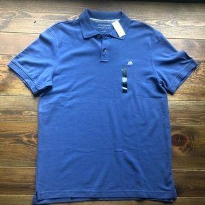Banana Republic NWT $32.99 blue polo short sleeve